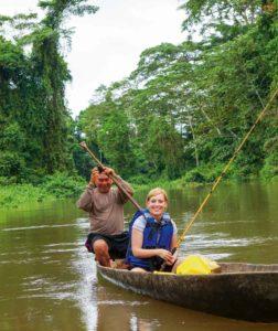 Fischen im Urwald von Ecuador