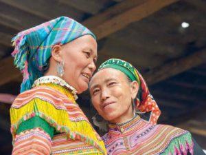 Stammes-Frauen im Hochland von Vietnam