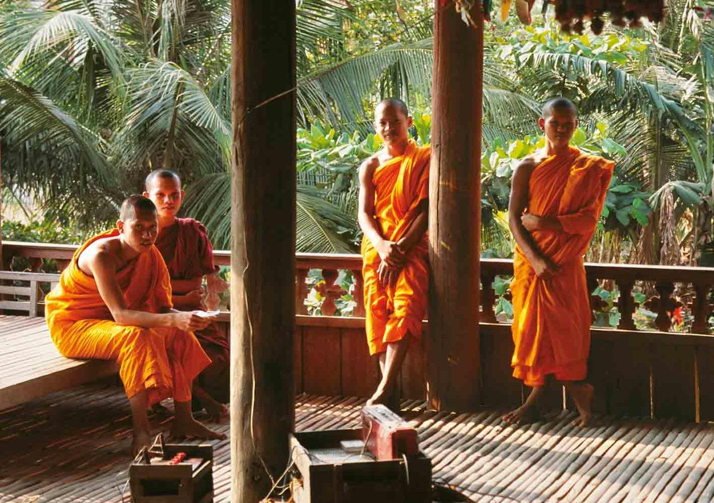 Viele Kambodschaner leben einige Zeit im Kloster.