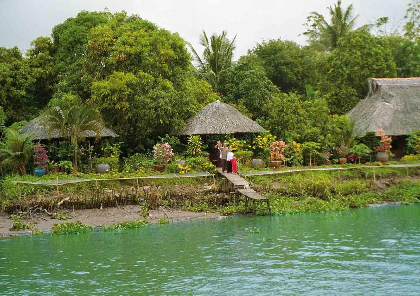 Vietnam: Wir übernachten im schönen Mekong-Resort.