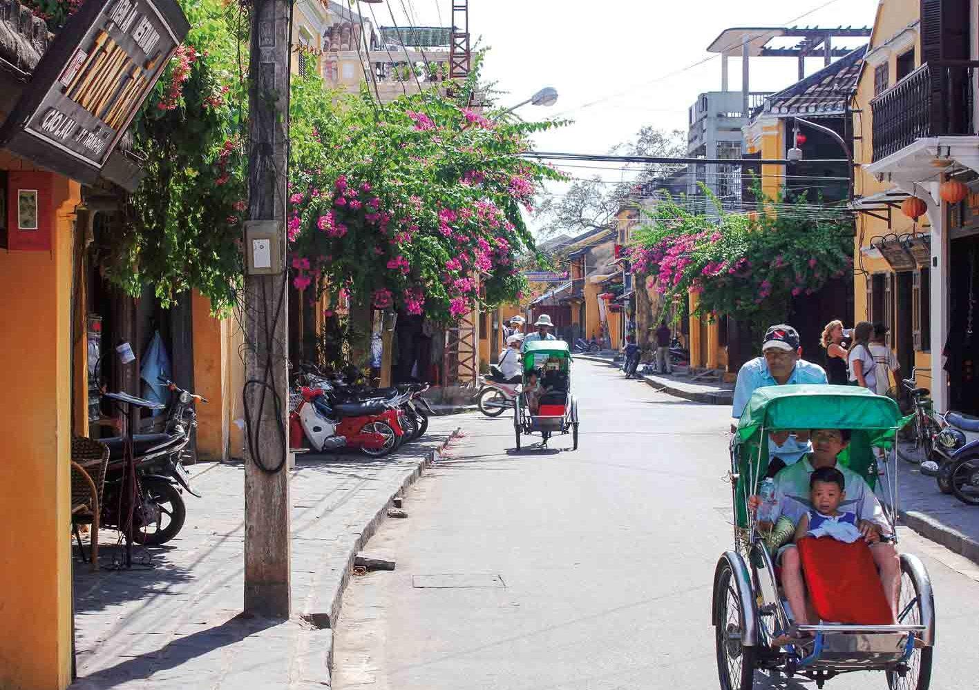 Die Altstadt von Hoi An wird tagsüber verkehrsfrei gehalten.