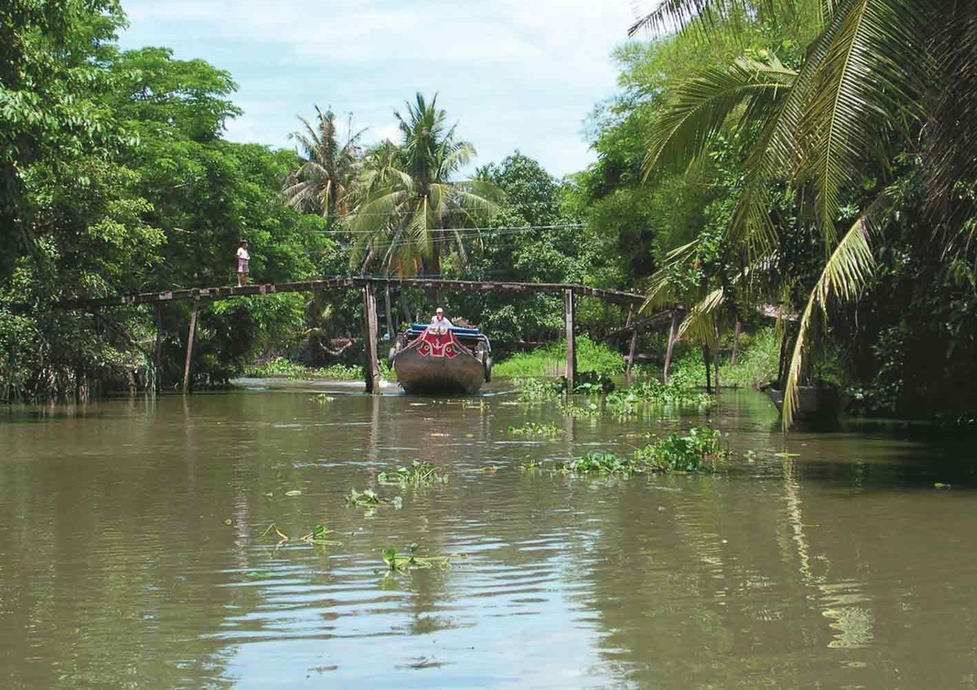 Auf einem Seitenfluss des Mekongs, Vietnam