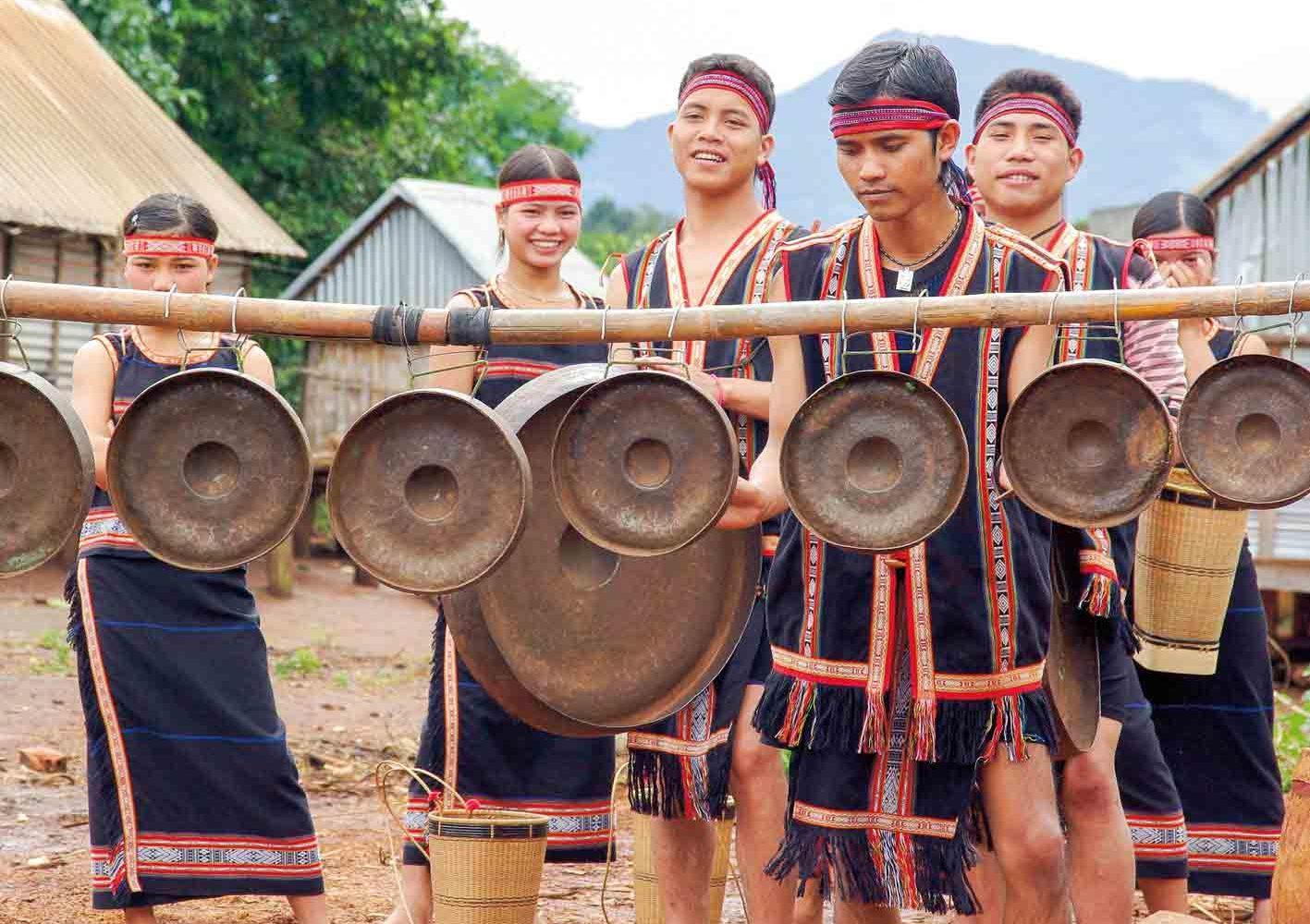 Musiker im Hochland von Vietnam