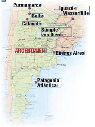 Argentinien-Reise, Reiseroute