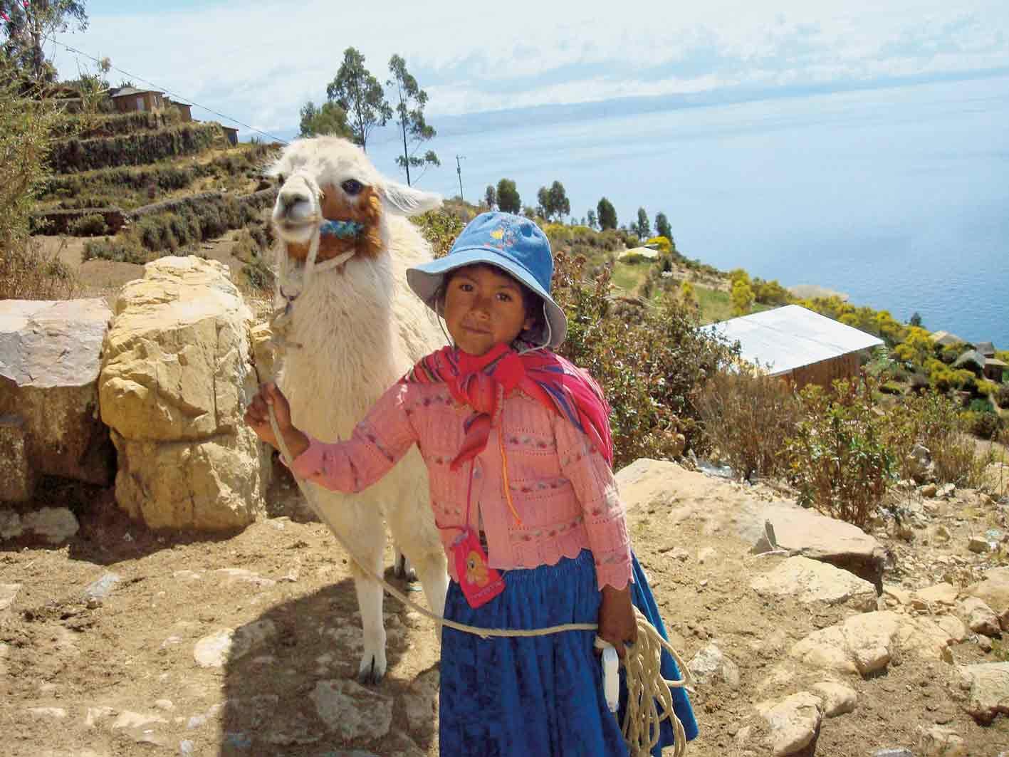 Begegnung auf der Sonneninsel im Titicaca-See, Bolivien