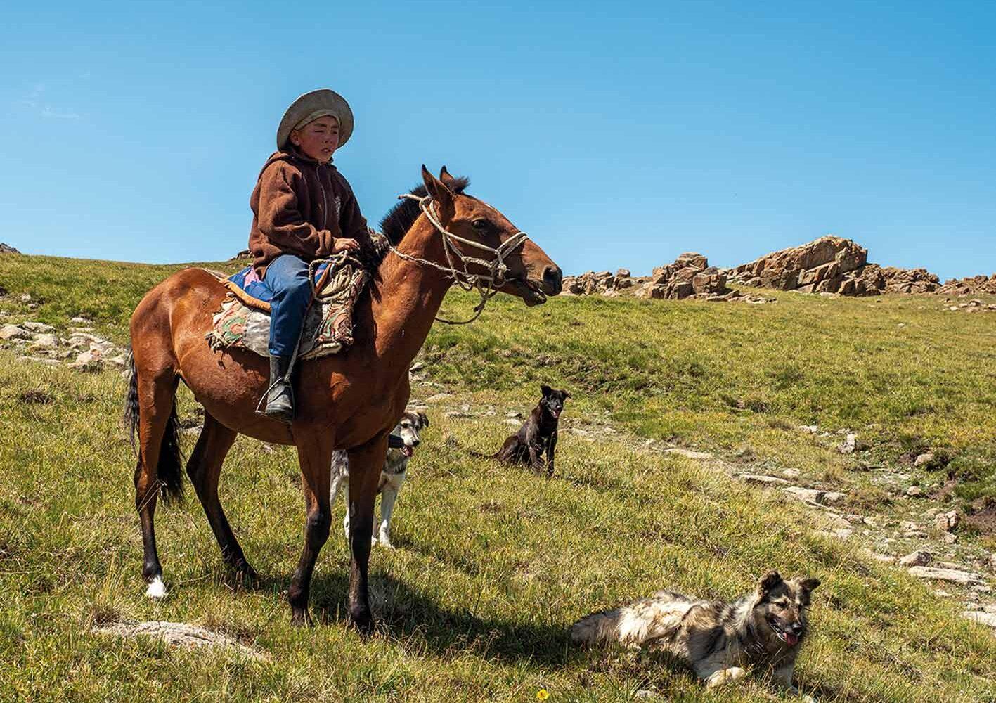 Die Nomaden in Kirgisien sind ein Reitervolk