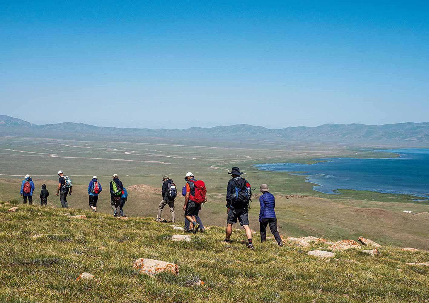 Wandergruppe in Kirgisien