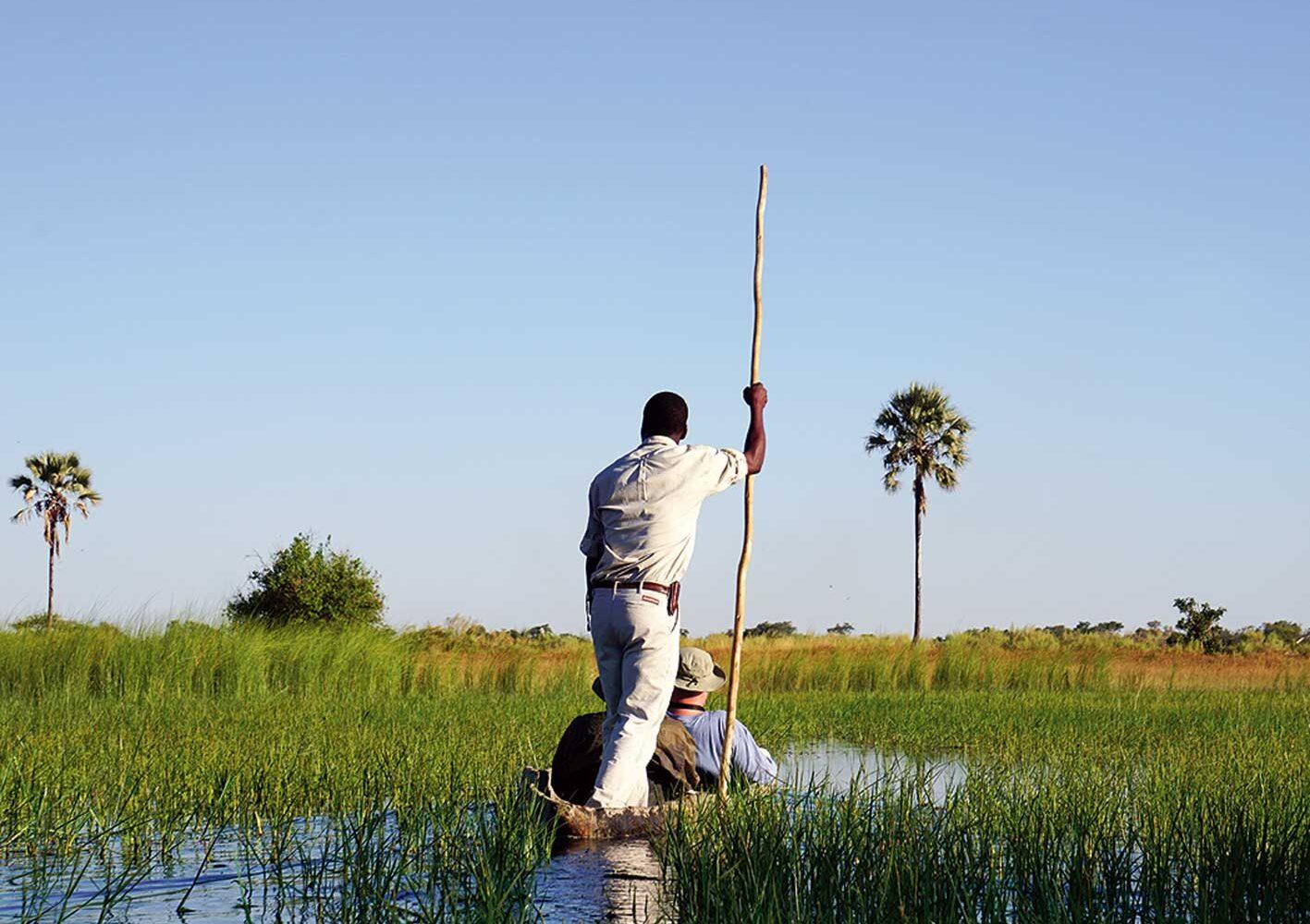 Im Mokoro durch das Okawango-Delta, Botswana