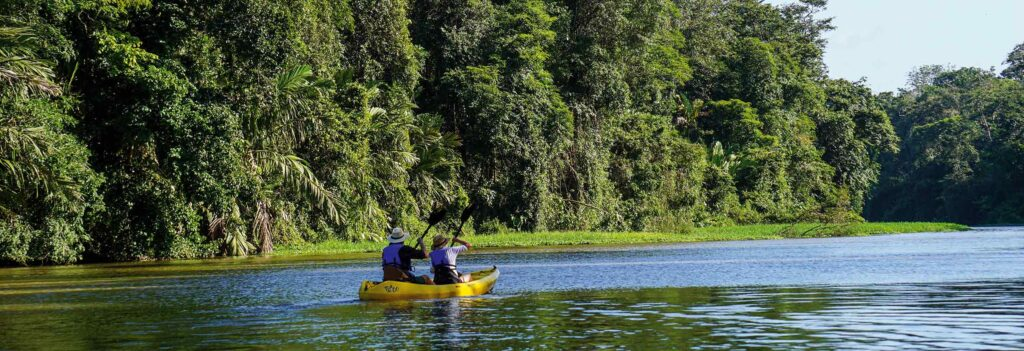 Kanu im Tortuguero-Nationalpark, Costa Rica